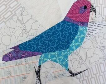 Paper pieced Kea (NZ Alpine Parrot) Pattern