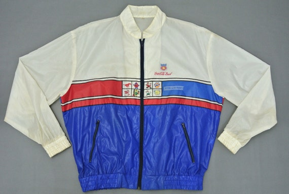 Coca Cola Bowl Windbreaker Men Large Vintage Ncaa Coca Cola