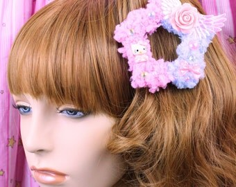 Sweet Lolita Hair Accessory-Fairy Kei Accessory-Alligator Clip-Women's Hair Accessory-kawaii accessory-Lolita head accessory