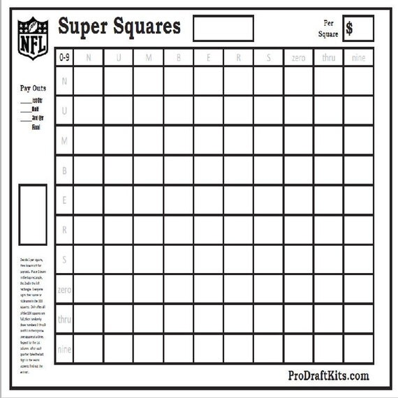 Amazing image in super bowl board printable