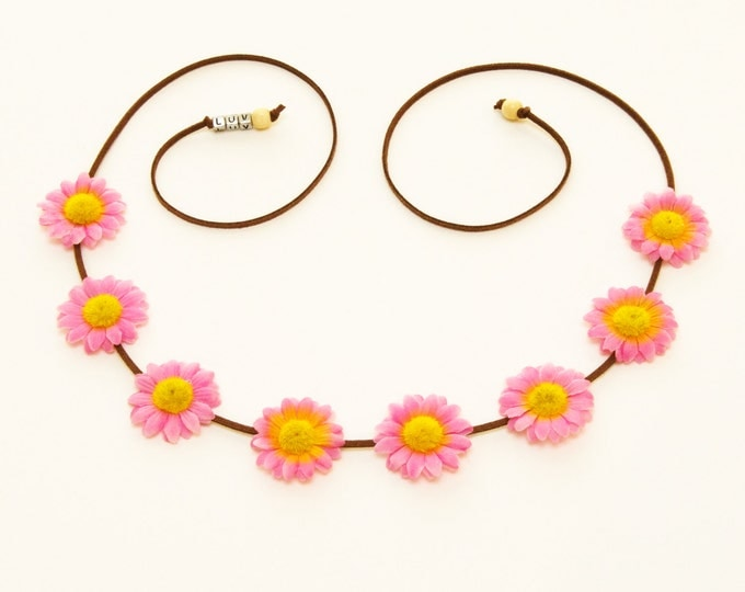 Pink Daisy Flower Crown