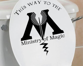 This Way to the Ministry of Magic decal, Ministry of Magic Decal, Harry Potter Inspired decal