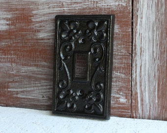 black light switch plate light switch cover iron metal single lightswitch cover lightswitch - Decorative Light Switch Covers