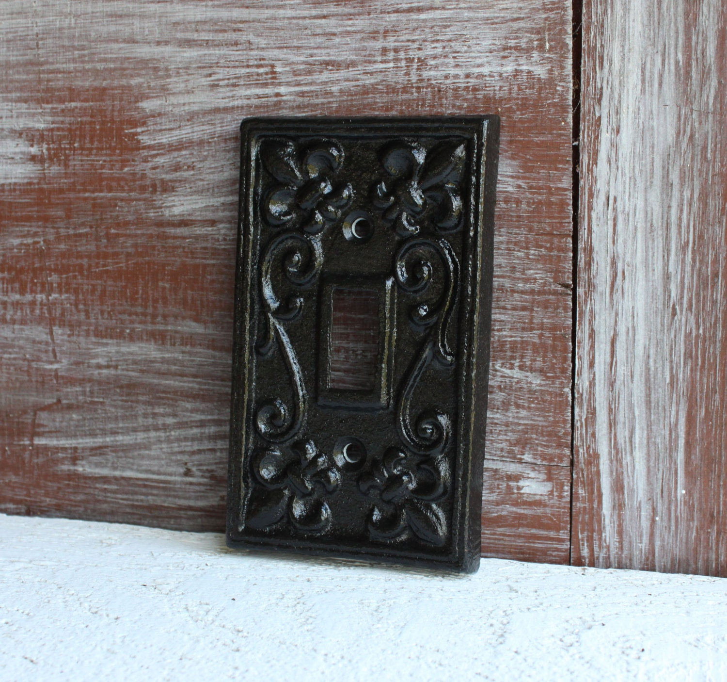 Black Light Switch Plate Light Switch Cover Iron Metal