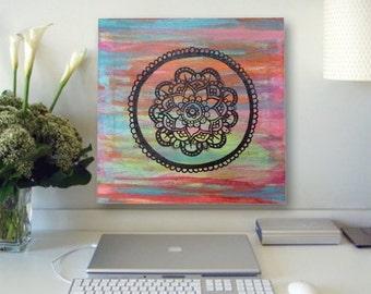 Multicolored Mandala Canvas