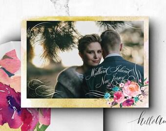 PRINTABLE Save the Date Postcard - engagement cards - save the date postcard - bohemian wedding - rustic wedding invitations - romantic