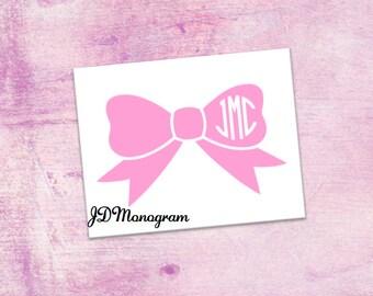 Bow Monogram Stickers