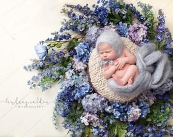 Newborn photo prop bonnet hat / photography prop newborns baby / newborn mohair bonnet / baby bonnet hat / newborn girl photo props mohair