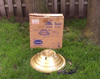 Gold Heirloom Rotating/Musical/Electric Christmas Tree Stand with Box