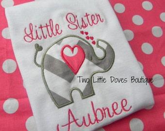 Little Sister Elephant Shirt