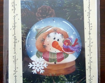 Tole Painting Pattern - Snow Globe Ornament - Plum Purdy by Renee Mullins
