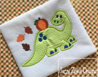 Dinosaur Fall 110 Applique Embroidery Design - Fall appliqué design - Dinosaur appliqué design - dino appliqué design