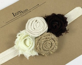 Fall Flower Headband, Fall Headband, Flower Headband, Baby Headband, Autumn Headband, Toddler Gift, Stocking Stuffer, Newborn Headband, Fall