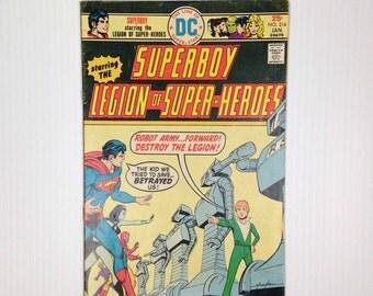 Vintage Comic Book DC Superboy No.214 Old Superboy Comic Book DC Comic Book 1971 DC Superboy and the Legion of Heroes 25 Cent