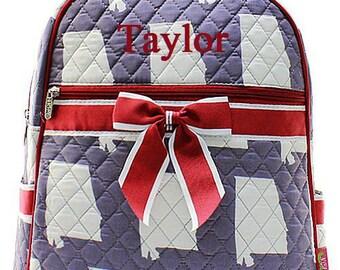 Monogrammed Quilted Backpack  Bama Roll Tide Backpack