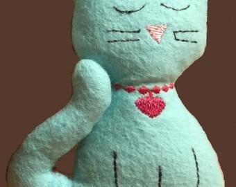 Kitty cat softie plush stuffie in the hoop machine embroidery *digital* design
