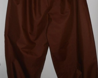 """New adult mens womens brown 4X -plus size SCA renaissance pirate costumes costume pants 40""""- 60"""""""