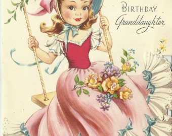 Vintage 1940's Happy Birthday Greeting Card Used!