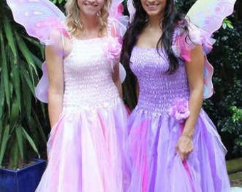 Adult Fairy Costume ~ Mardi Gras  ~ Tulle  Fairy Party Dress ~ Masquerade ~ Theatre ~ Fantasy ~