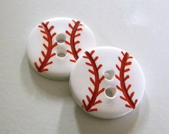 Baseball Buttons ~ Set of 2
