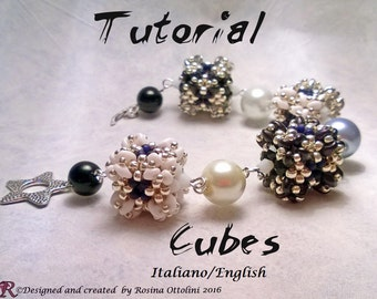 Bracelet Cubes (Tutorial graphics images and photos step by step in Italian or English)