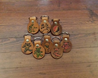 Custom Leather Grateful Dead Keychain or Magnet