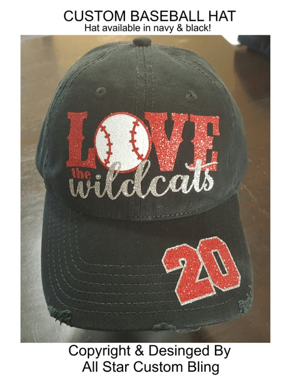glitter custom baseball team hat baseball distressed hat