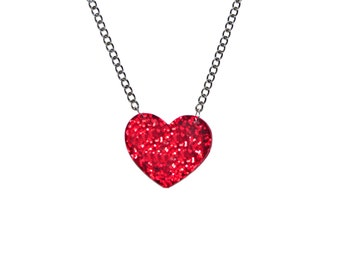 Heart Necklace - Pinup Rockabilly Love