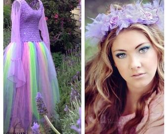 Adult Plus Size Fairy Costume ~ Halloween  Masquerade ~ Theatre ~ Renaissance