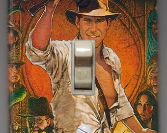 Raiders of the Lost Ark Light Switch Cover Plate - Indiana Jones FREE SHIPPING