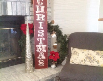 Patio signs etsy for Large outdoor christmas signs