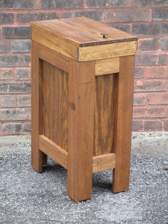 Wood Trash Bin Kitchen Garbage Can Wood Trash Can Garbage