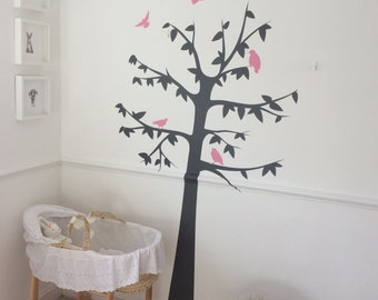 Vinyl wall decal, wall sticker, tree decal, home decor, Kids wall decals-Romantic Flower