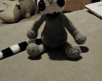 Crocheted Lemur. Amigurumi. Handcrafted. Made to order.