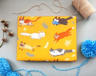 Cats Gift Wrap, Wrapping Paper, Cat Lover Gift