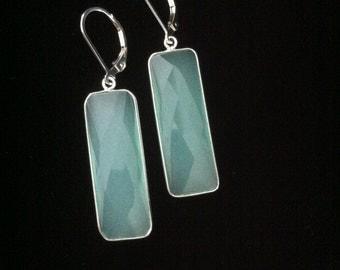 Reduced/Sky Blue Chalcedony Earrings