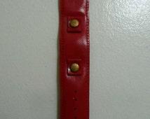 Vintage Red Wrist Watch Band Mod Hippie Bracelet 1960s