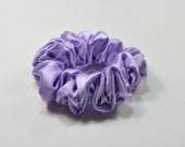 hair scrunchie, natural hair product, hair ties, lavender, pure silk charmeuse, Hypoallergenic Sensitive hair care, hair holder, hs1