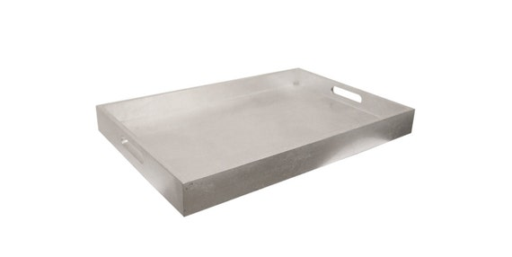 Silver Leaf Lacquer Tray Serving Tray Coffee By Modernisticwood