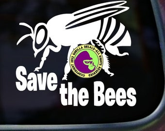SAVE the BEES Beekeeper Vinyl Decal Sticker