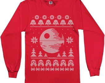 Star Wars Dark Side of the Force Ugly Christmas Sweater Unisex Kids' Youth Long Sleeve T-shirt