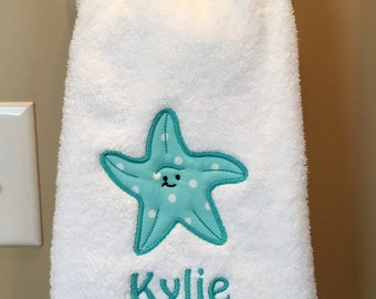 Personalized Starfish Hand Towel