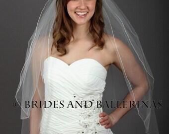 Veil With Blusher, Bridal Veil, 2 Layer Veil, Soft Wedding Veil, Wedding Veil White, Blush Pink Veil, Fingertip Wedding Veil