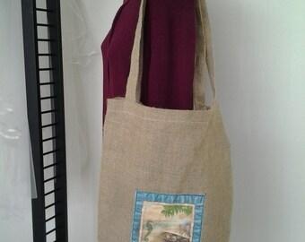 Burlap market beach tote bag BBsCustomClutches market tote bag burlap tote bag