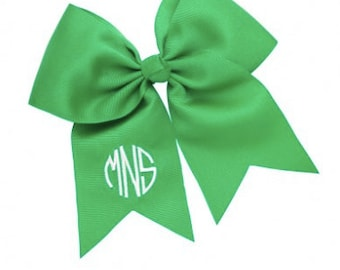 Monogrammed Green Wholesale Boutique Hair Bow