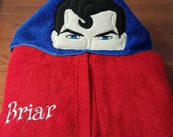 Superman Superhero Hooded Towel