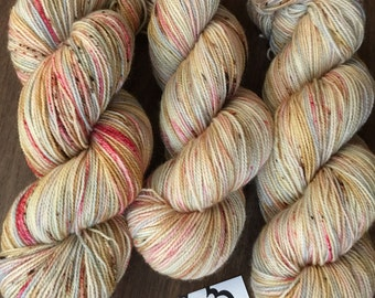 """80/20 SW BFL/Nylon hand-dyed Speckled Sock Yarn - 400yds """"Macarons"""""""