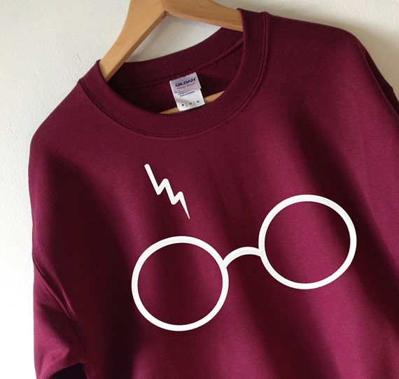 harry potter sweatshirt foudre lunettes pull col haute qualit. Black Bedroom Furniture Sets. Home Design Ideas
