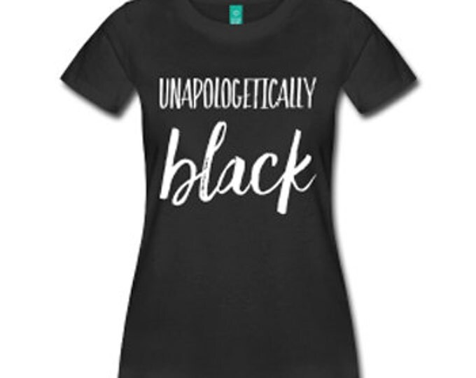 Unapologetically Black Fitted T-Shirt - Black