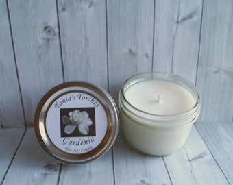 Best Soy Candle Gardenia. Floral Scented Candle. Natural Wax Candle